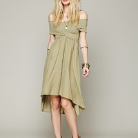 Free People Smocked Hi-Low Dress