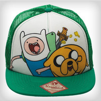 Adventure Time Jack & Finn Green Trucker Hat