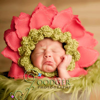 Pick a Color Yarn for DIY Bonnet flower hat ... original design by Imagination Couture 2012 ... lime, pink, yellow, chocolate,  turquoise
