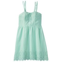 Target : Xhilaration® Juniors Spaghetti Strap Eyelet Dress - Assorted Colors : Image Zoom