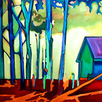 Along the Path by Jason Watts: Oil Painting - Artful Home