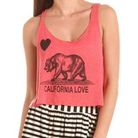 California Love Graphic Crop Tank: Charlotte Russe