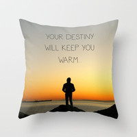 Try Not to Worry... Throw Pillow by RichCaspian