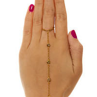 Hardcouture Chain Daisy Chain Hand in Gold