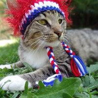 Cat and Dog Hat Costume - July 4th Fourth of July - The American Wackadoodle Hat for Cats and Dogs - Patriotic Cats Dogs
