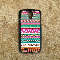 Galaxy S4 Cases - Custom Samsung Galaxy S4 Covers - Cute Tribal Native Aztec Design - Top Accessories for Samsung S4 - Hard Protective Case