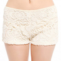 Lace Hot Pants in Ivory