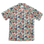 S/S VACATION SHIRT-ORANGE/GREEN FLOWER PRINT