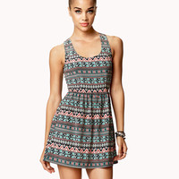 Tribal-Inspired Cutout Back Dress | FOREVER21 - 2021841338