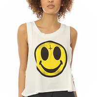MYVL Evil Smiley Tank in White