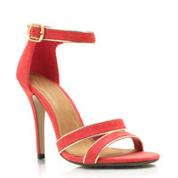 metallic-accent-ankle-strap-heels BLACK DKSALMON - GoJane.com