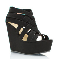 caged-wedges BLACK STONE - GoJane.com