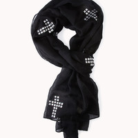 Studded Cross Scarf | FOREVER21 - 1056864453