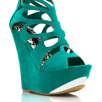 Cut-Out-Platform-Wedges BLACK CORAL EMERALD NUDE - GoJane.com