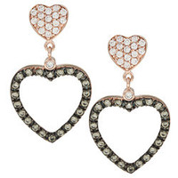 La Preciosa Sterling Silver Cubic Zirconia Heart Earrings | Overstock.com