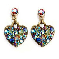 Sweet Romance Multi Aurora Hearts Earrings | Overstock.com