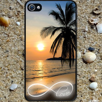 Iphone case Infinity Love Beautiful Sunset Beach by HappyWallz