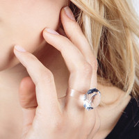 Clear Sillymond Ring