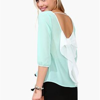 Waldorf Summer Blouse - Mint