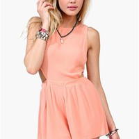Sunrise Dreams Romper - Peach