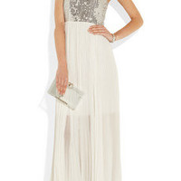 Alice + Olivia | Shira sequined silk-chiffon gown | NET-A-PORTER.COM