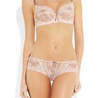 Elle Macpherson Intimates | Dentelle lace and stretch-mesh underwired bra | NET-A-PORTER.COM