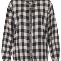 Mix and Match Oversize Check Shirt - Railroad  - Clothing