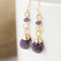 jewels2luv — Amethyst Drop Earrings