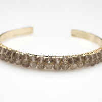 jewels2luv — Smokey Quartz Bangle Bracelet