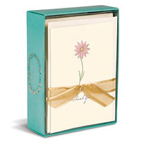 NEW A Single Daisy Boxed Thank You Cards - 10 Elegant Cards & Envelopes