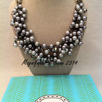 NEW Stella & Dot Isadora Pearl Bib - Beautiful Detail!