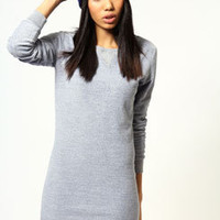 Evie Long Sleeve Reverse Loopback Sweat Dress