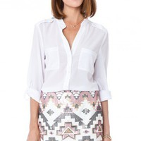 Dominique Sequin Skirt - ShopSosie.com