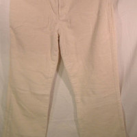 Ralph Lauren Pants 8 M MEDIUM Corduroy off-white cream classic boot cut stretch