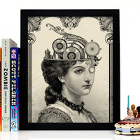 Stay Gold Media | The Steampunk Queen, Giclee Art Print, 8 x 10 inches