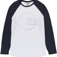 Billabong Brennan Raglan - White - MT43WBRE				 |  			Billabong 					US
