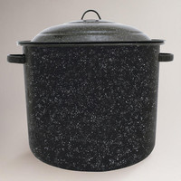 Black Graniteware 34 Qt Stock Pot | World Market