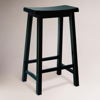 Antique Black Schoolhouse Barstool | World Market