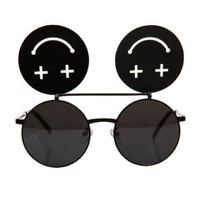 Vintage Smile Face Sunglasses - OASAP.com