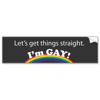 Let's get things straight. bumper sticker from Zazzle.com