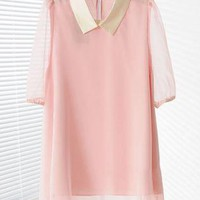 Double Layers Chiffon Tunic