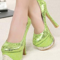 Ladies High Stiletto Heel Fashion Party Club Shoes