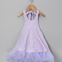Lavender Daisy Halter Dress - Infant