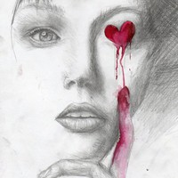 Bleeding Love Art Print by AliArt