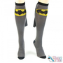 Batman Cape Knee High Socks- Gray