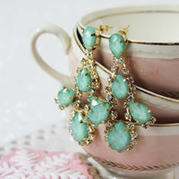 Tidesong Mint Earrings, Sweet Affordable Jewelry