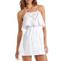 Tiered Bust Cotton A-Line Dress: Charlotte Russe
