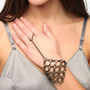 Knotted Chain Ring-To-Wrist Bracelet