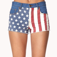American Flag Denim Cut Offs | FOREVER 21 - 2041188639