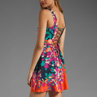 Akiko Lace-Up Back Dress in Floral Print from REVOLVEclothing.com